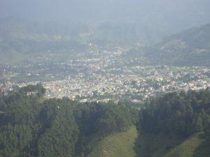 चंडाक से दिखता पिथोरागढ़ शहर